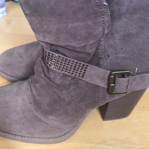 NWT brown Lane Bryant booties size 10W